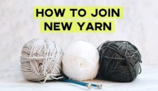 how to join new yarn to knitting