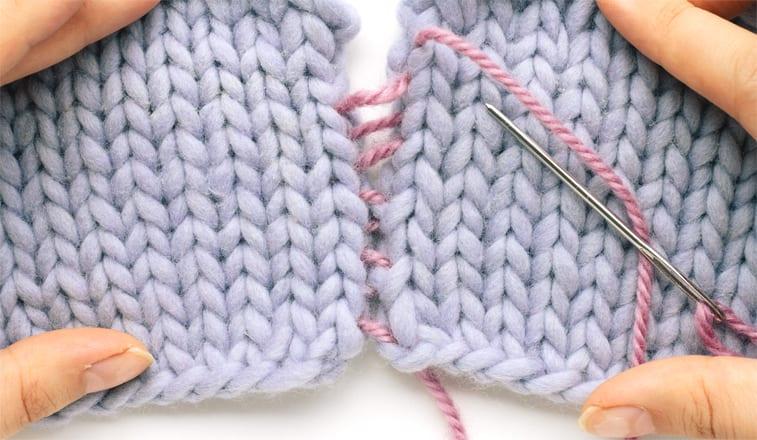 how to mattress stitch seam