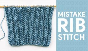 mistake stitch rib how to knit