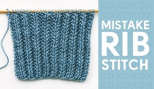 mistake stitch rib how to knit