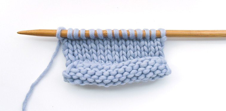 stockinette stitch knitting curling