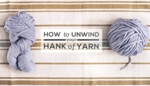 how to unwind yarn hank