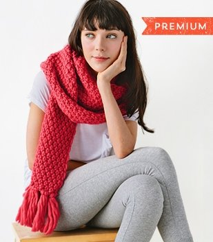 chunky scarf knitting tutorial