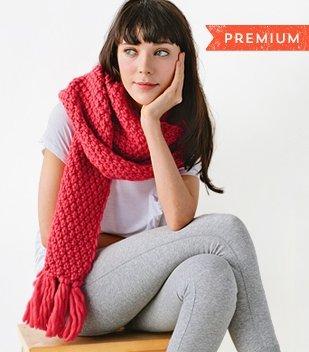 chunky scarf knitting tutorial