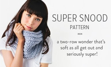 chunky snood knitting pattern
