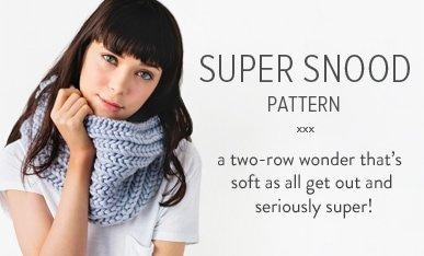 chunky snood knitting pattern