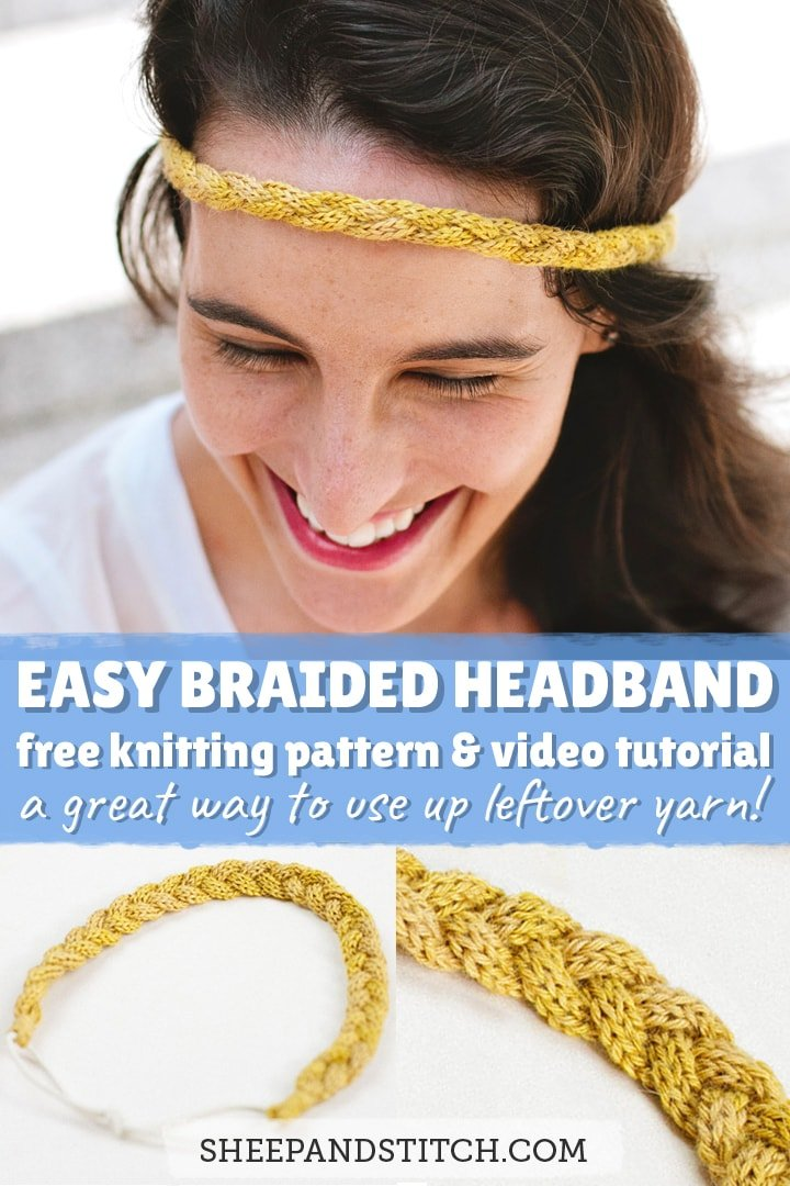 easy braided headband free knitting pattern tutorial