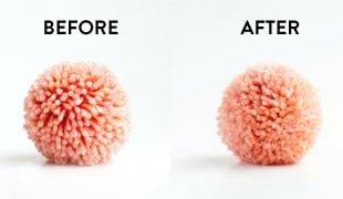 how to fuzzy pom poms