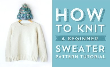 beginner sweater knitting pattern