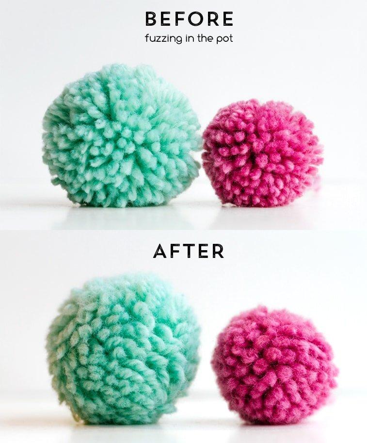 how to make fuzzy pom poms
