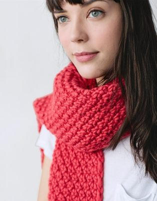 moss stitch scarf pattern