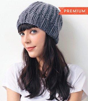 chunky hat knitting pattern tutorial