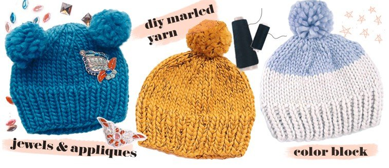 how to decorate a knit hat