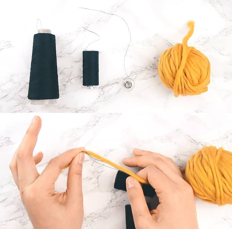 DIY marled yarn