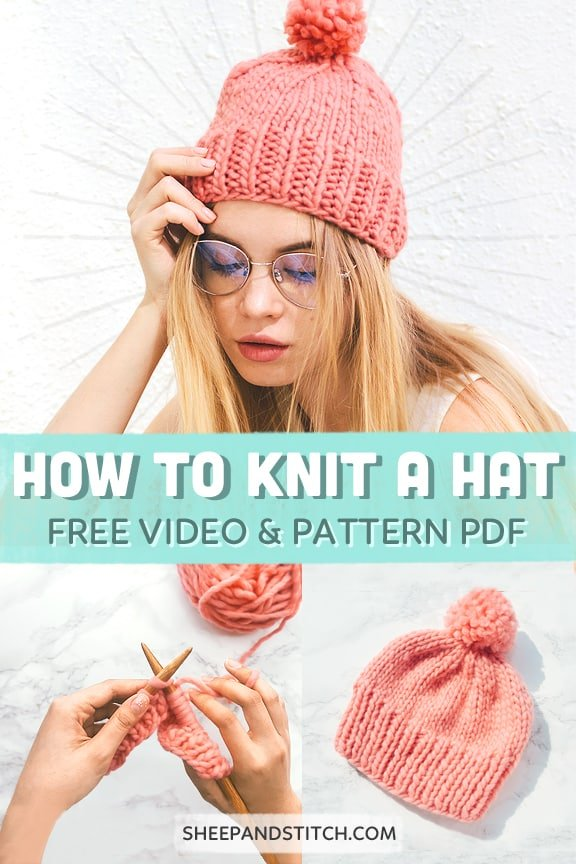 How to knit a hat for beginners on straight needles
