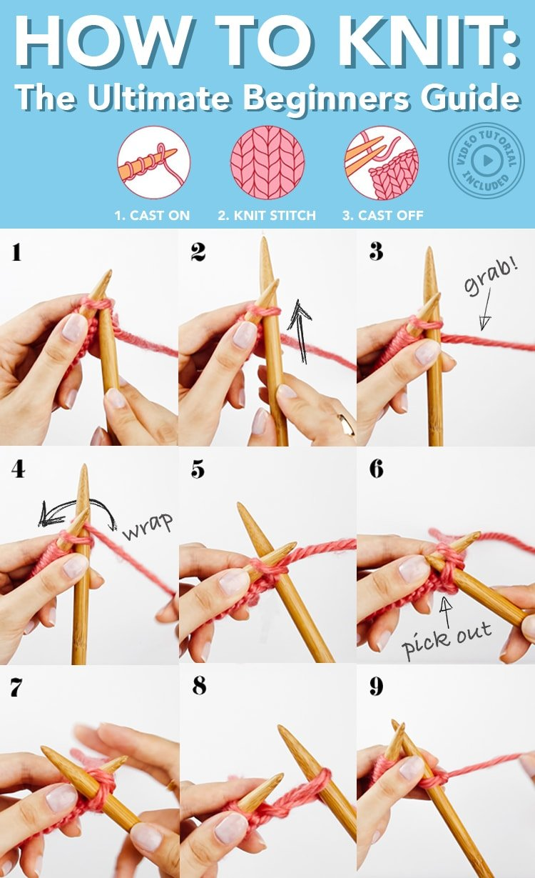 how to knit photos