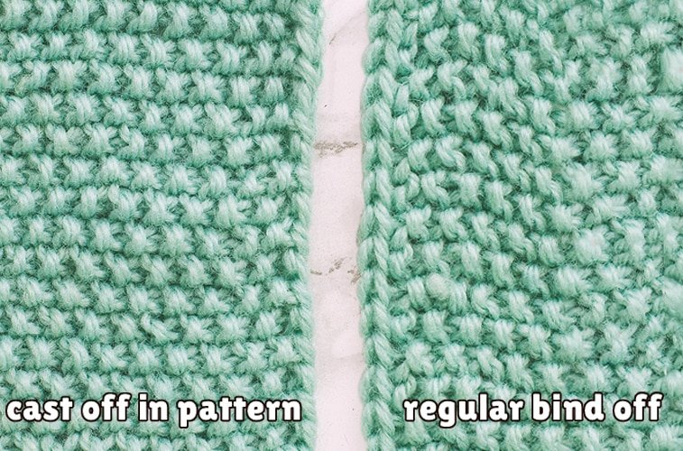 bind off in pattern comparison normal bind off
