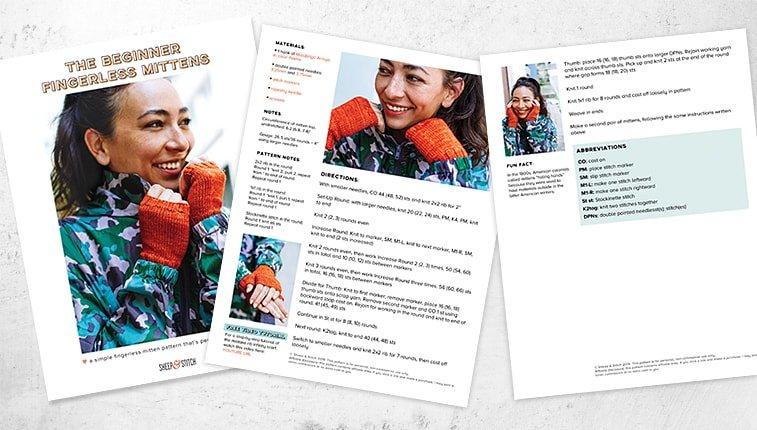 fingerless gloves knitting pattern pdf