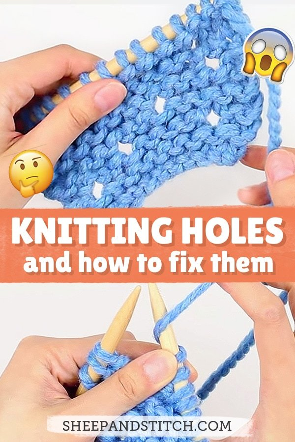 knitting with holes