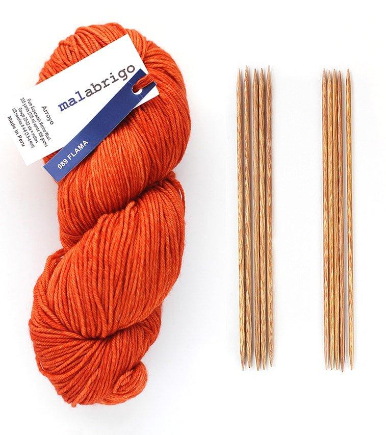 materials for knitting fingerless gloves