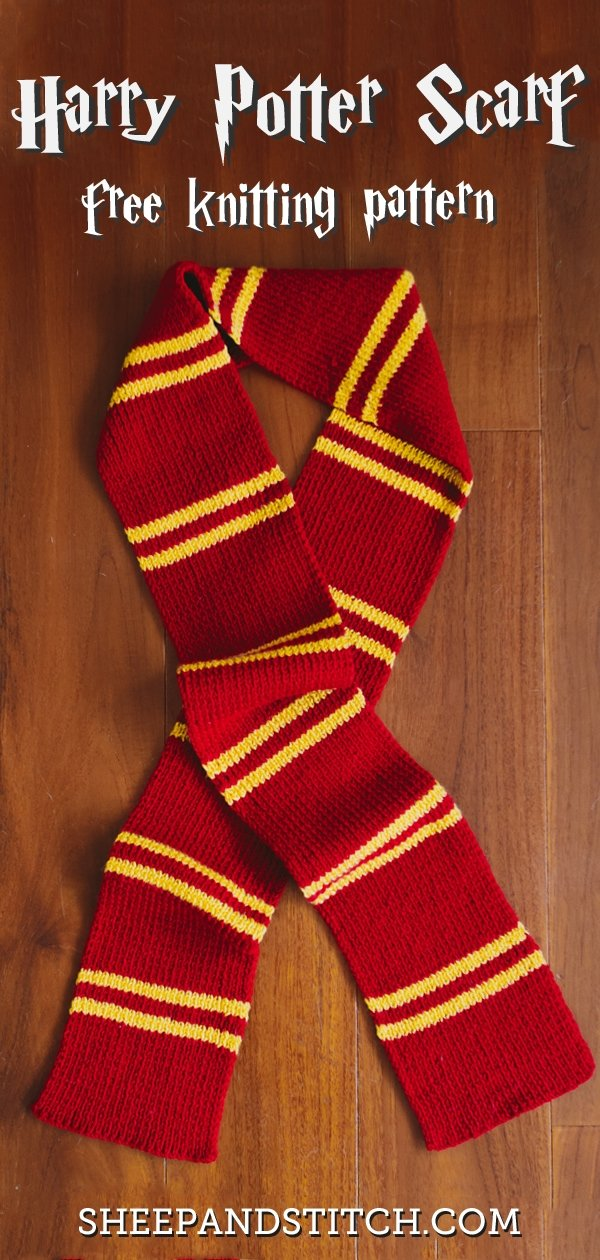 harry potter scarf knitting pattern tutorial for muggles sheep and stitch harry potter scarf knitting pattern