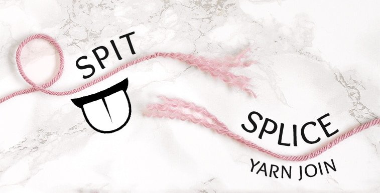 joining new yarn with spit splice