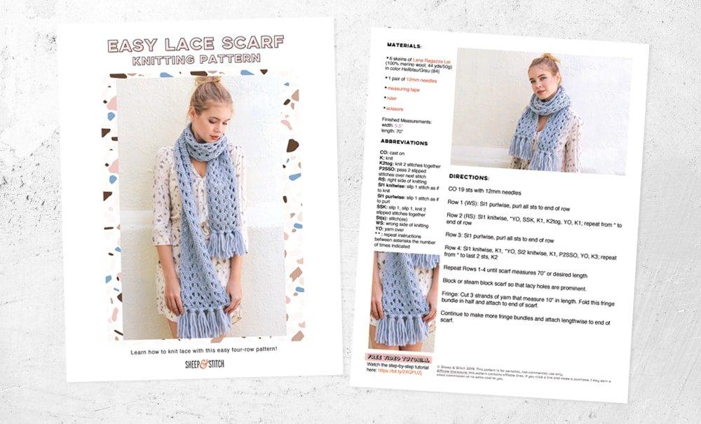 lace knitting pattern image
