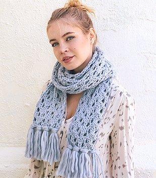 lace scarf knitting pattern thumb2