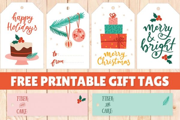 Free Printable Holiday Gift Tags for Knitters