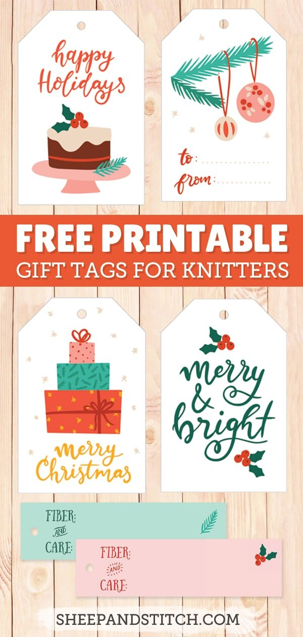 printable holiday gift tags for knitters