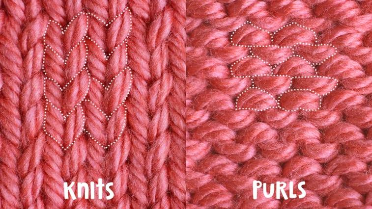 knit versus purl comparison
