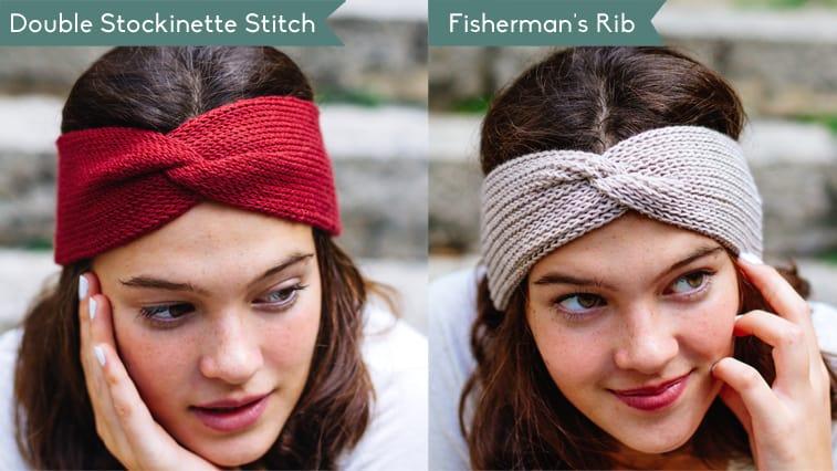 knit headband with a twist