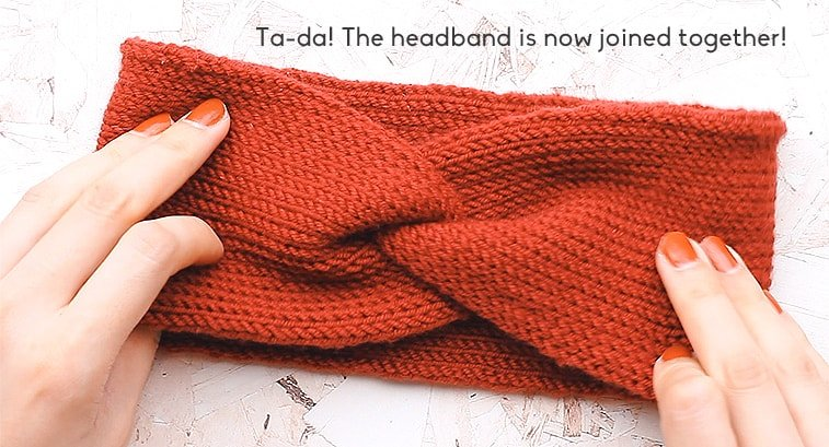 seaming a headband