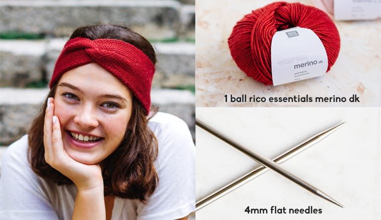 twist headband knitting materials
