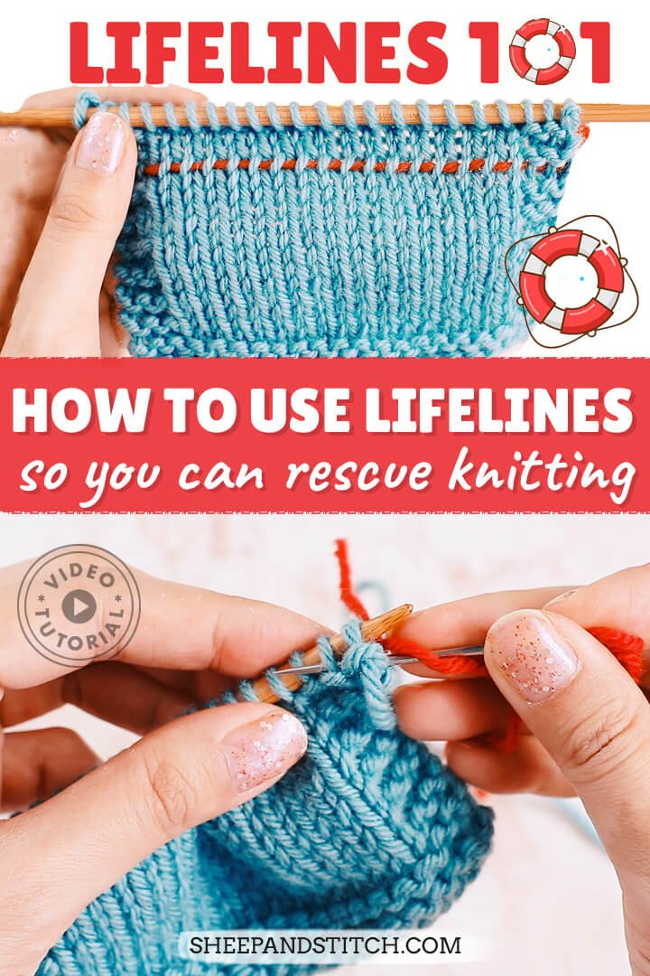 how to insert lifelines into knitting