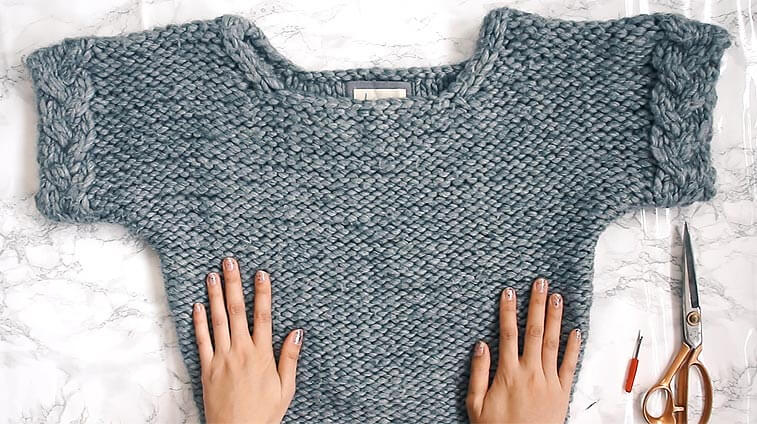unravelling a sweater to save money on yarn