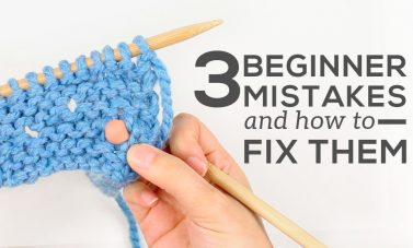 3 beginner knitting mistakes